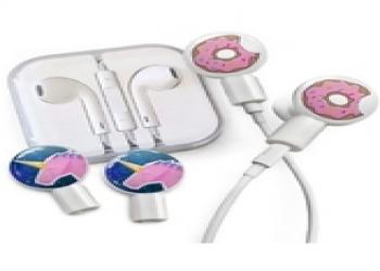 DekaSlides Earbuds + Combo Pack: Donut Bite+ Geo Unicorn